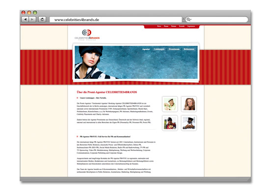 Webdesign Berlin, Content Management System, Onlineshop - Projekt CELEBRITIES4BRANDS