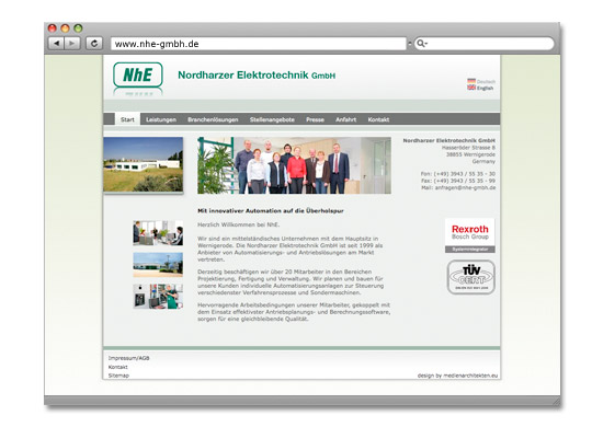 Webdesign Berlin, Content Management System, Community - Projekt NHE